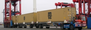 Containers on Trailer
